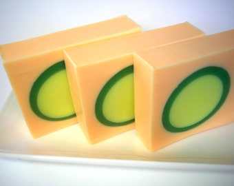Cucumber Melon Soap, Fruit soap,  Vegetable soap, Garden soap, Cucumber Soap, Melon Soap, Summer Soap, Hostess Gift, Garden Soap