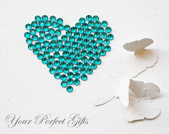 500 pcs Acrylic Round Faceted Flat Back Rhinestone 5mm Teal Blue FREE shipping USA Scrapbooking Embellishment Nail Art LR037