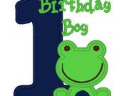 Greatstitch Tree Frog Birthday Shirt 1st Birthday 2nd Birthday 3rd Birthday