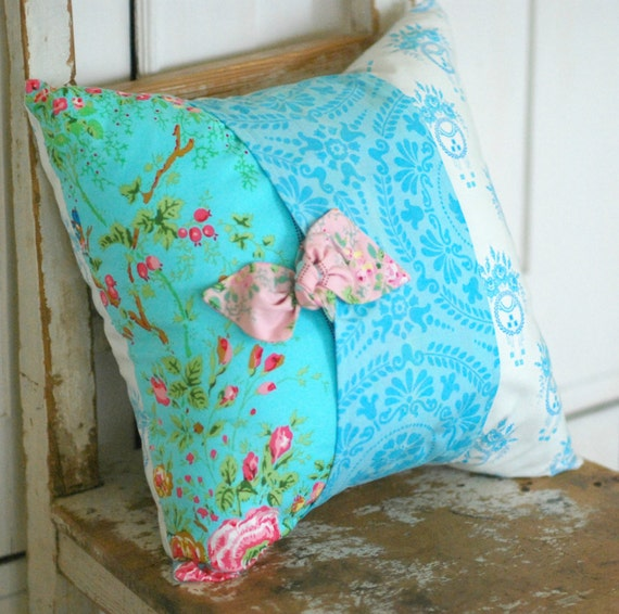 Shabby Chic Pillow Cover Decorative Pillow by KenilworthPlace
