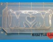 SALE Mom No.2 Layered  Flexible Plastic Handmade Resin Mold