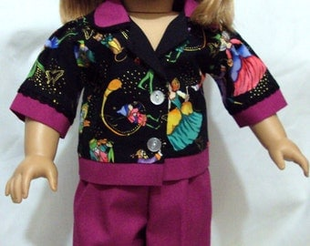 American girl  fairy Pajamas  or other 18 inch dolls