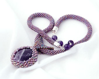 Elegant Amethyst OOAK Necklace