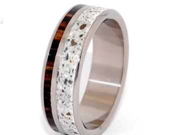 wedding ring, titanium rings, wood rings titanium wedding ring, concrete ring, men's ring, women's ring - TRUTH