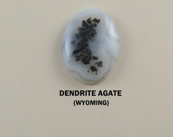 Medicine Bow Dendrite Agate Oval Cabochon for Jewelry Crafters.