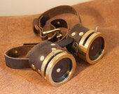 Custom Brown leather brass rims and IRIS APERTURES on both sides