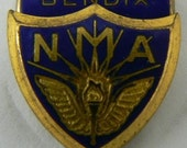 National Motorcycle Management or Medical Association Pin NMA N.M.A. Bendix Enamel Screw Back