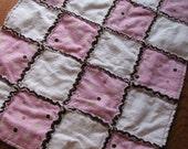 Flannel Rag Doll Quilt- Mocha Pink