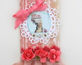 Marie Antoinette II Art Tag Handmade OOAK