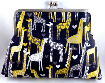 Giraffes in Love Clutch Purse