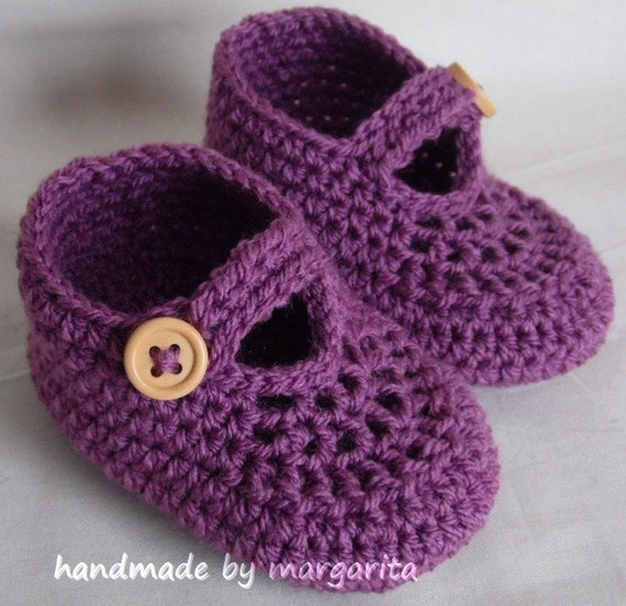 Items similar to Crochet baby shoes for Newborn 0 3M or 3