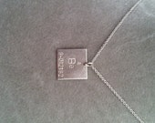 """Periodic Table """"Elemental"""" sterling silver pendant 14mm -your choice -FEATURED in POPSCI.COM Gift Guide - geek girl collection - chemistry"""