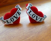 Earrings Mix and Match Collection Matching Set Nostalgic Love Fuzzy Hearts