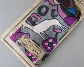 Vintage French Textile Sample Satin Prints - Paris  Lyon Nice M170