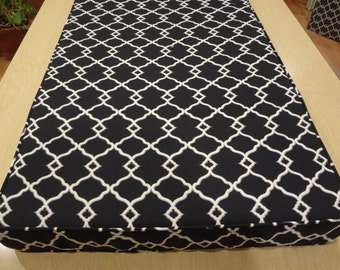 """Custom Window Seat Cushions,use your own fabric, 83.5"""" x 21"""" x 3"""", includes foam, double piping, batting and zippers. Made to Order."""