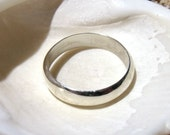 Wedding Band- 3mm Low Dome- Sterling Silver Band RF402