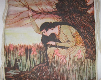 Marsh Kings Daughter, 1922 Backpack/tote canvas -Custom Print made to order
