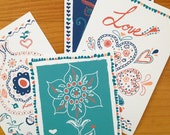 Love Postcards Set of 4