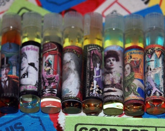 "Gothic, Carnival Perfume Samples - from our ""KrAzY KarNivaLe Freak Show Collection"""