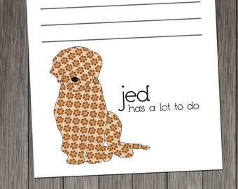 Labradoodle Personalized Notepads -- To Dog List Custom Breed
