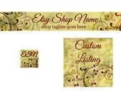 Etsy Banner Set - 3 Piece - Vintage A5 - PS