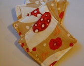 Cool Chick Chicken / Coasters / Washable Coasters / Vintage-Inspired Fabric Coaster Set / OOAK