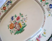 ON SALE  Copeland Spode Large Platter  17 X 12 1/2  Circa 1920s  Chinese Rose