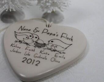 CUSTOM - Grandparents ornament -  your family's Grandchildren and Grandparent's name