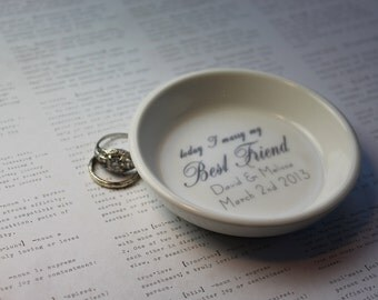 CUSTOM Elegant Ceramic Ring Holder - you choose the style and color