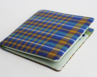Mens wallet, Vegan Wallet, Billfold, Mens Accessories, Rad Plaid, Handmade by Knotted Nest on Etsy