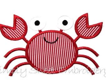 Crab 2 Machine Embroidery Applique Design