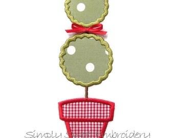Topiary Machine Embroidery Applique Design