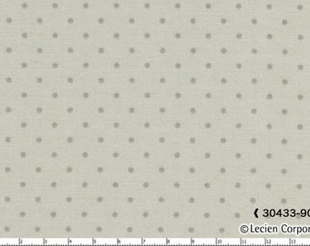 Durham Anew Cotton Fabric by Lecien 30433-90   dots on a light gray background
