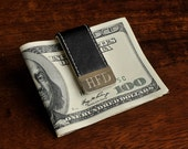 Engraved Leather Wrapped Money Clip by Jackglass for Groomsman, Ushers, Best Man, Father of the Bride by Jackglass on Etsy
