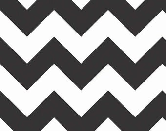 SALE - Riley Blake Large Chevron in Black