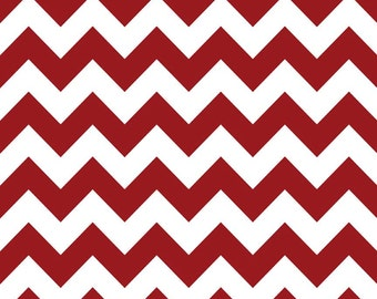 SALE - Riley Blake - Medium Chevron in Crimson