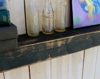 "Rustic Home Decor - Entryway - Living Room - Mud Room - Wood - Floating Wall Shelf - Farmhouse Chic - Shelves - Wooden Shelving - 40"" Long"