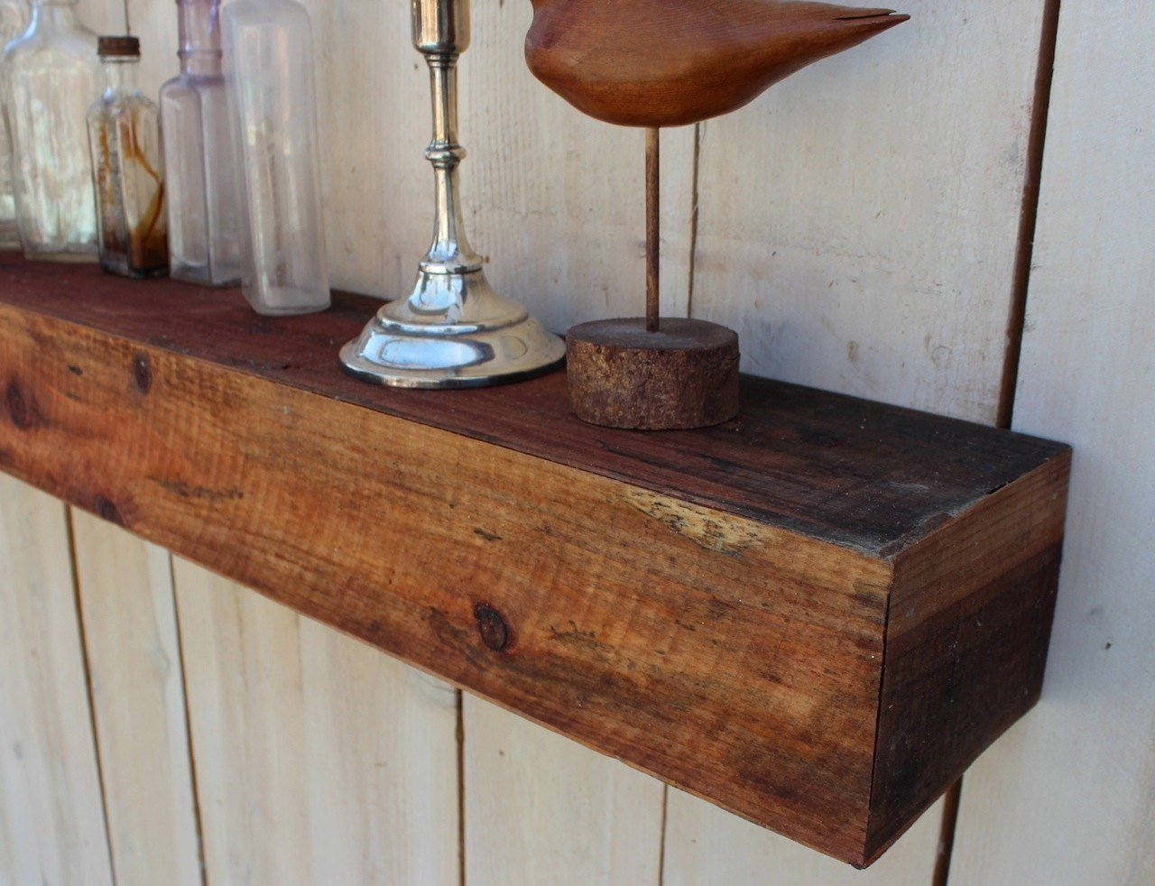 Floating Wood Shelves ~ Wooden wall shelves for pictures quick woodworking projects