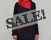 SALE - Womens Eclipse Tunic - Shadow Black / Berry Red