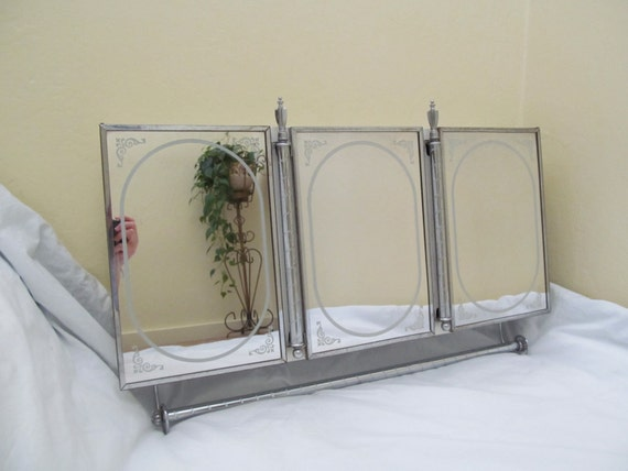 art deco bathroom mirror cabinet vintage mid century deco decorator three mirror medicine 21927