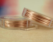 Rose Gold Artistic Wire - 1/4 lb - Permanently Colored - You Pick Gauge 18, 20, 22, 24, 26, 28, 30, 32 - 100% Guarantee