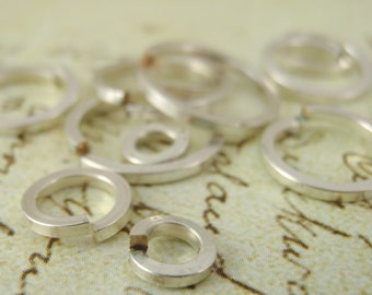 10 - Square Silver Filled Jump Rings - Your Choice of Gauge and Diameter - Affordable Sterling Alternative