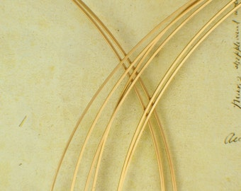 14kt Yellow Gold Filled SQUARE Wire - Half Hard or Dead Soft  - 1/4 Troy ounce - You Pick the Gauge - 14 to 24
