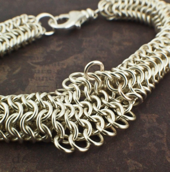 Basket Weave Chainmaille Tutorial : Inside outside chainmaille bracelet pdf tutorial from