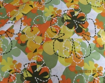 Marianne of Maui Hawaiian Quilting Fabric SALE  Mod Hawiian Flowers Satiny NEW ARRIVAL