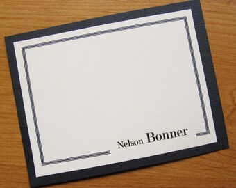 Masculine Professional Notecard Set/Personalized Notecard Set/Business Notecard Set