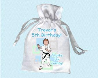 Martial Arts or Karate Kid Favor Bags (Pack of 10) - Boy