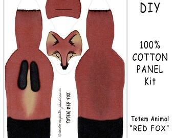 DIY Kit - TOTEM REDFOX - Toy Animals for Nature Table, Play or Collecting - Free Shipping Continental United States
