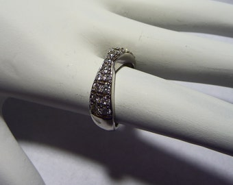 Sterling Silver and CZ Ring on Etsy
