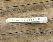 Hidden Message Tie Bar - Father of the Bride Gift - Father of the Groom Gift - Wedding - Custom Tie Bar - Personalized Tie Clip - tagyoureit